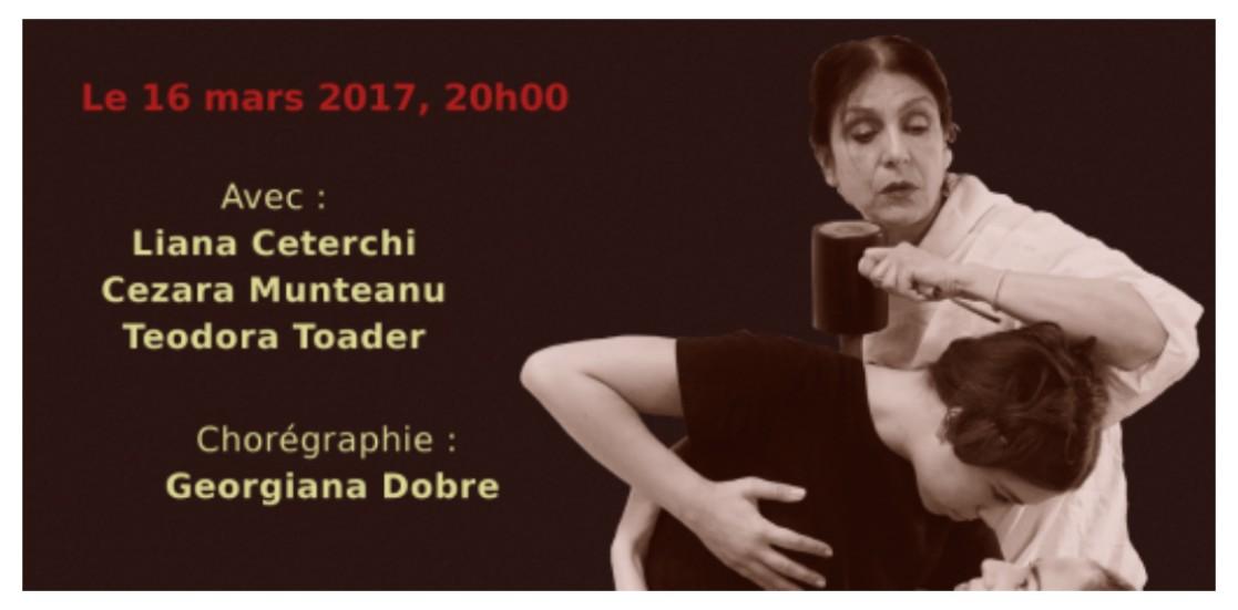 Spectacol finanțat de UNITER prin timbrul teatral, jucat la Bruxelles de Ziua Francofoniei