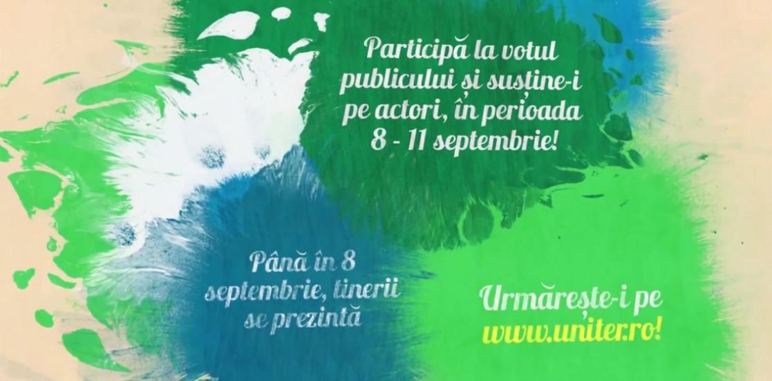 Votează-ţi actorii preferaţi la Gala Tânărului Actor HOP pe www.uniter.ro!