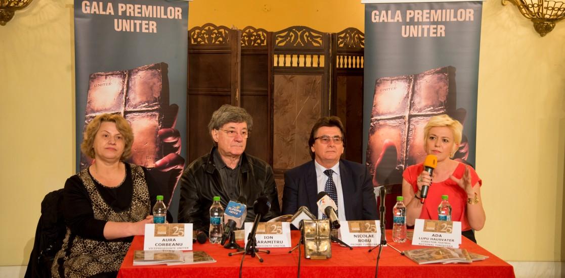 """(Română) Ion Caramitru, Președintele UNITER: """"Am început Gala Premiilor UNITER când aveam 50 de ani și iată-mă la 75, mergând înainte cu ea"""""""