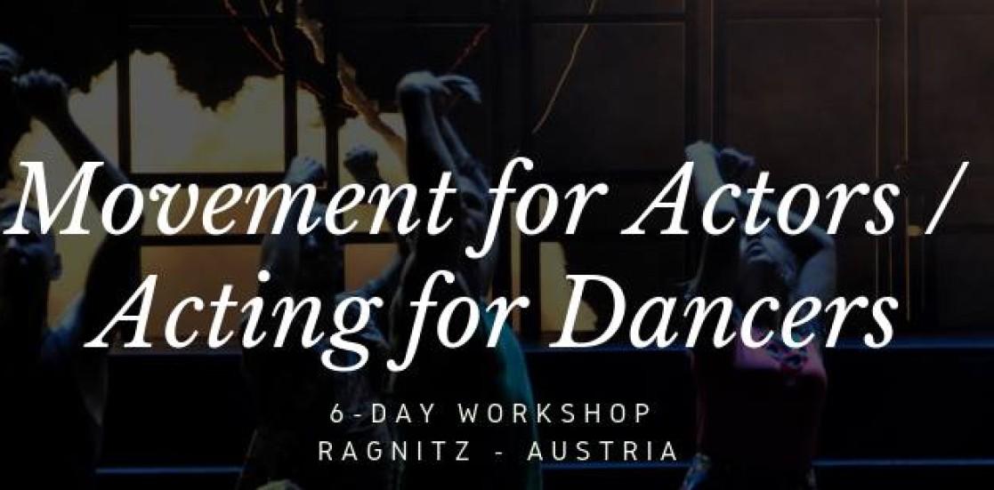 Workshop internațional de mișcare pentru actori/ actorie pentru dansatori