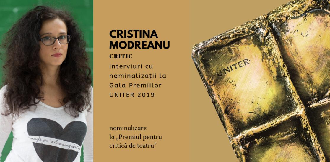"""Cristina Modreanu: """"Nu poți evolua dacă nu asculți criticile care ți se aduc"""""""