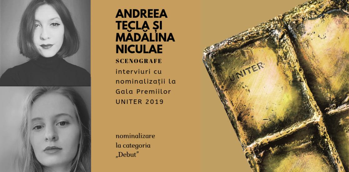 """Andreea Tecla și Mădălina Niculae: """"Un scenograf bun are nevoie de creativitate, capacitate de adaptare dar și muncă în echipă"""""""