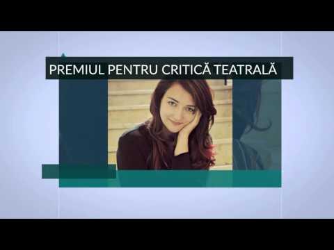 Premiul pentru critică teatrală. Gala Premiilor UNITER 2016